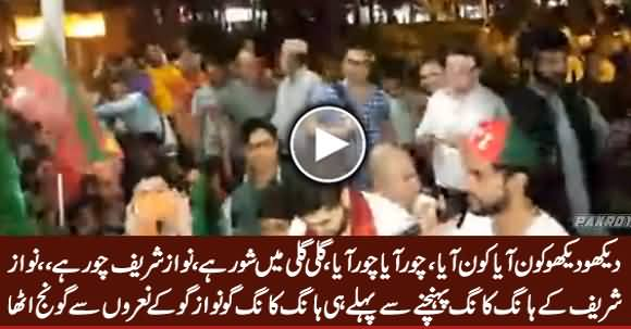Go Nawaz Go Slogans In Hong Kong Before PM Nawaz Sharif's Arrival