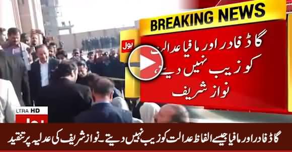 Godfather Aur Mafia Jaise Alfaz Adalat Ko Zaib Nahi Daite - Nawaz Sharif