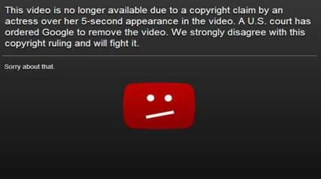 Google Removes the Anti Islam Movie From Youtube But Vows To Fight the Court Orders