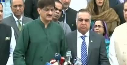 Governor Sindh Imran Ismail and CM Sindh Murad Ali Shah Joint Media Talk In Karachi