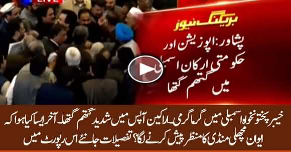Govt And Opposition Engaged In Intense Quarrel In KPK Assembly