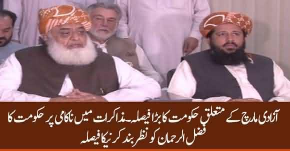 Govt Decides To House Arrest Fazal Ur Rehman If Dialogue Fails