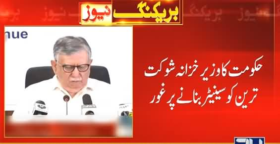 Govt Decides To Get Shaukat Tareen Elected As Senator
