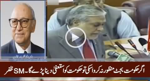 Govt Has to Resign If They Coudn't Approve Budget Even After Delay - SM Zafar