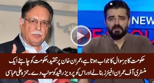 Govt Should Make A Ministry of Imran Affairs & Hand It Over to Pervez Rasheed - Hamza Abbasi