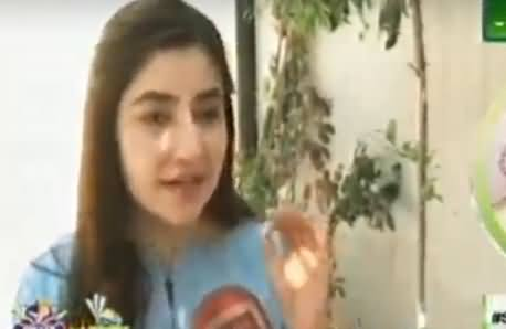 Gul Panra Telling The Name of Her Favourite Team And Singing A Pashtu Song
