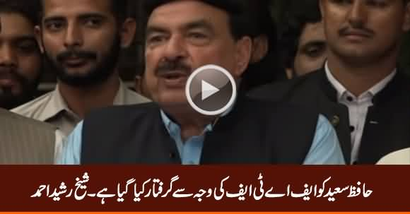 Hafiz Saeed Has Been Arrested Because of FATF - Sheikh Rasheed