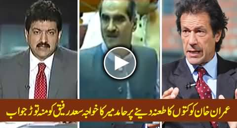 Hamid Mir's Reply to Khawaja Saad Rafique on His Statement About Imran Khan's Dog Sheru