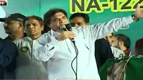 Hanif Abbasi Speech In PMLN Jalsa Dongi Ground Lahore – 9th October 2015