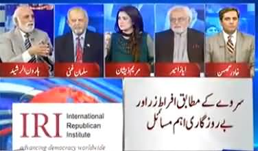 Haroon Rasheed Comments on IRI Survey in Favour of PTI Govt