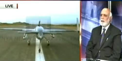 Haroon Rasheed Telling the Details of Pakistani Made Burraq Drone