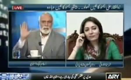 Haroon Rasheed Vs Sharmila Farooqi Fight in Live Program