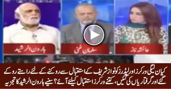 Haroon ur Rasheed's Analysis on PMLN's Welcoming Rallies on Nawaz Sharif's Arrival