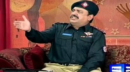 Hasb e Haal (Azizi As Police Inspector) – 13th June 2015