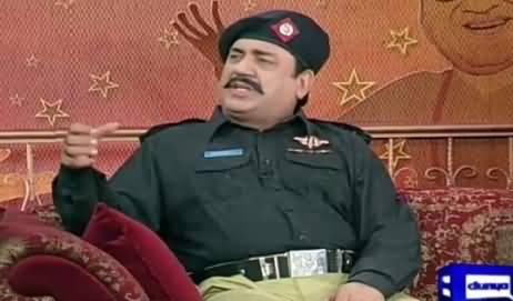 Hasb e Haal (Azizi As Police Inspector) – 13th September 2015