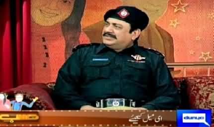 Hasb e Haal (Azizi As Police Inspector) – 26th April 2015
