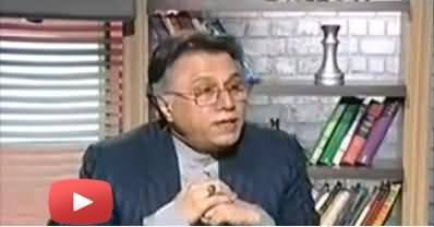Hassan Nisar Making Fun of Pervez Khattak on his Statement About Blocking NATO Supply