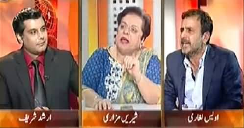 Heated Arguments Between Shireen Mezari And Awais Laghari on Pak India Issue