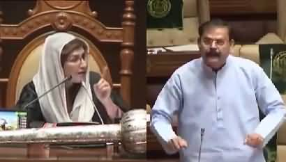 Heated Debate B_W Shehla Raza & MQM MPA during assembly session