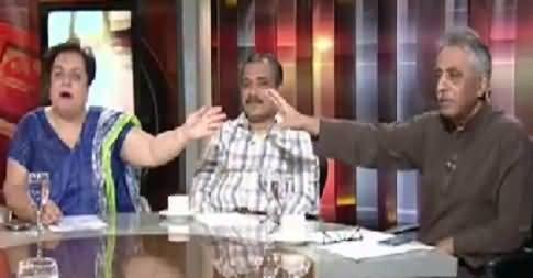 Heated Debate Between Shireen Mazari And Muhammad Zubair in Live Show