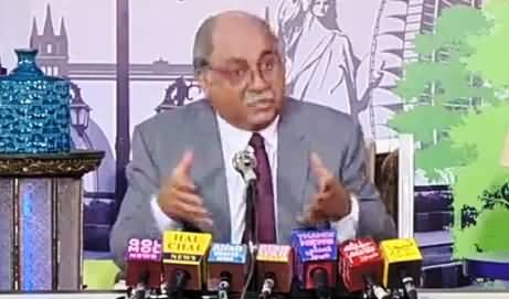 Hilarious Parody of Najam Sethi by Aziz Doing Press Conference