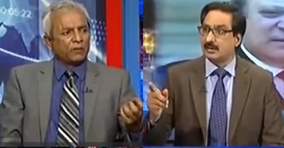Hot Debate Between Javed Chaudhry & Nehal Hashmi on Silence of Govt On Kalbhushan's Issue