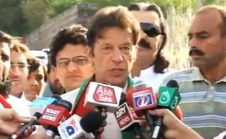 I Am Seeing Re Elections in Pakistan - Imran Khan Talking to Media Before Multan Jalsa