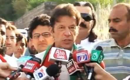 I Am Seeing Re Elections in Pakistan - Imran Khan Talking to Media Before Multan Jalsa