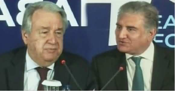 I Salute Pakistan For Hospitality Of Afghan Migrants - Shah Mehmood Qureshi And UN Secretary General Joint Media Talk