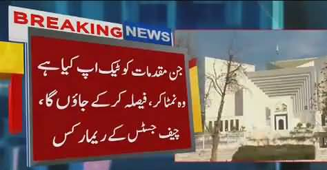 I  will finish all cases I started before leaving office – CJP Saqib Nisar