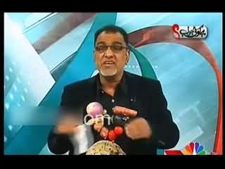 Ibrahim Mughal Unique Way of Protest Against Govt in Live Talk Show