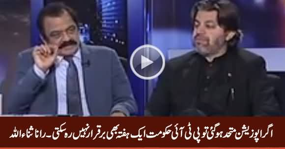 If Opposition Unite, PTI Govt Cannot Survive Even A Week - Rana Sanaullah