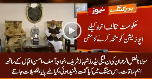 Import Meeting Between Maulana Fazlur Rehman And Shahbaz Sharif