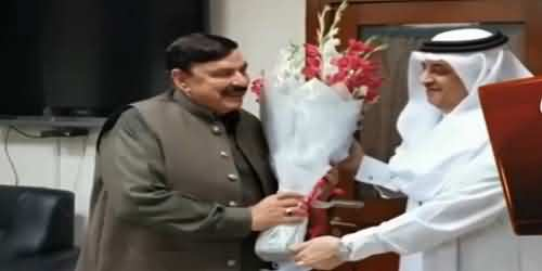 Important Meeting Held Between Sheikh Rasheed And Saudi Ambassador, Discussed Pakistan Saudi Arabia Relations