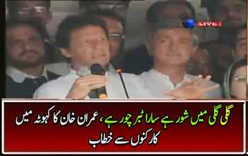 Imran Khan addressing to workers in Khuta - 14th July 2017