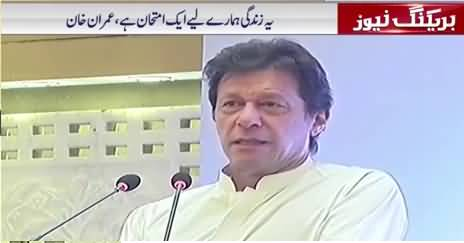 Imran Khan Adresses Membership Camps Set Up In Lahore