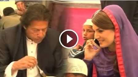 Imran Khan and Reham Khan Having Lunch With Madrassa Students, Exclusive Video