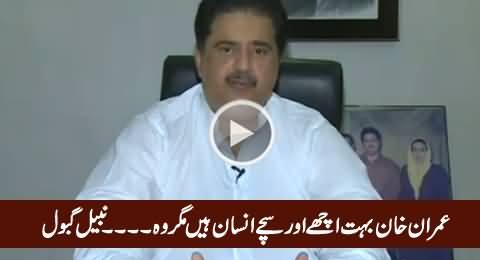 Imran Khan Bohat Achay Aur Sachey Insan Hain Magar Woh...... Nabil Gabol