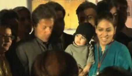 Imran Khan Escapes Another Fall in Lahore as Stage Collapses, Watch Video