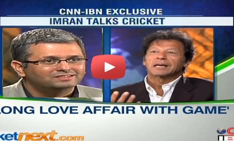 Imran Khan Exclusive Interview with CNN-IBN Sports Editor Gaurav Kalra about Cricket