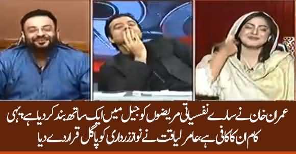 Imran Khan Gathered All Psychopath In Prison, Aamir Liaquat Called Nawaz And Asif Zardari 'Nafsiyati Mareez'