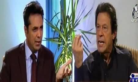 Imran Khan Gets Angry on Talat Hussain During Live Interview