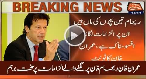 Imran Khan Got Angry For Baseless Allegations on Reham Khan