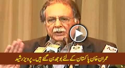 Imran Khan Has Become A Burden For Pakistan - Pervez Rasheed Bashing Imran Khan