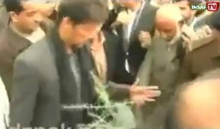 Imran Khan Inaugurates Billion Tree Tsunami Campaign by Planting Sapling at Hazara University