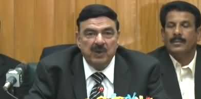 Imran Khan Is Genuinely Working Hard - Sheikh Rasheed Press Conference in Lahore