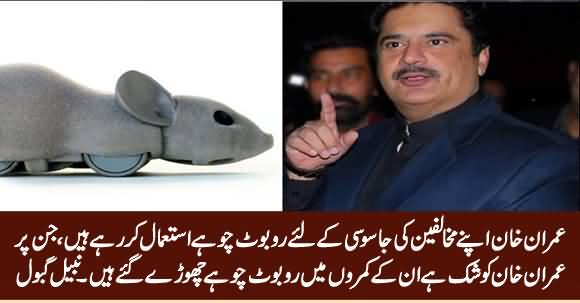Imran Khan Is Using Robot Rats To Spy His Opponents - Nabil Gabol