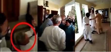Imran Khan Ke Ghar Per Jahangir Tareen Ko PTI Workers Ne Ghair Lia