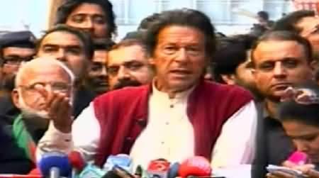 Imran Khan Media Talk Outside Election Tribunal in Lahore - 6th December 2014
