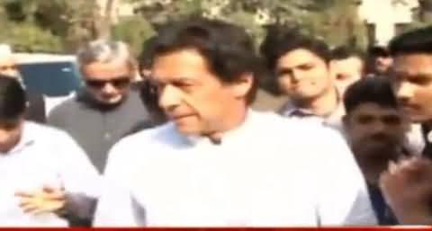 Imran Khan Reached Jinnah Hospital Lahore To Inquire Bomb Blast Victims
